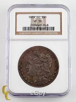1889-CC $1 Silver Morgan Dollar Graded VF 30 by NGC, Key Date