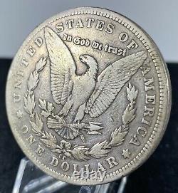 1889-CC Key Date Morgan Silver Dollar in F/VF Condition You Decide! Bid Now