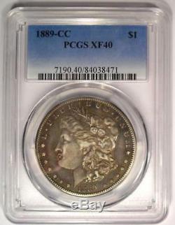 1889-CC Morgan Silver Dollar $1 Certified PCGS XF40 (EF40) Rare Carson City