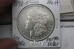 1892-s Key Date Breast Feathers Au+++ Morgan Silver Dollar