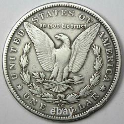 1893-CC Morgan Silver Dollar $1 VF Details Rare Carson City Coin