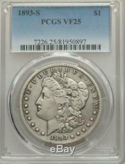 1893 S Morgan Dollar Pcgs Vf 25! The Key