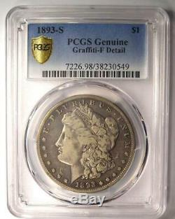 1893-S Morgan Silver Dollar $1 Certified PCGS Fine Details Rare Key Coin