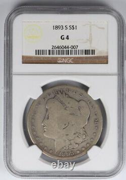 1893-S Morgan Silver Dollar NGC G4 $1