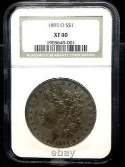 1895-o $1 Morgan Silver Dollar Key Date Ngc Xf 40 Free Shipping