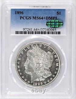 1896 Morgan Dollar PCGS & CAC MS64+ DMPL Plus Deep Mirror Prooflike GEM! #BML7