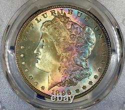 1896-P Morgan Dollar PCGS MS65 Absolute Stunner! Gorgeous Colorful Rainbow Toned