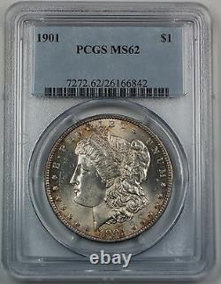 1901 Morgan Silver Dollar $1 PCGS MS-62 Better Choice BU UNC Coin DGH