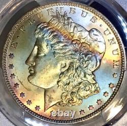 1901-O Morgan Dollar PCGS MS64 Rainbow Toned