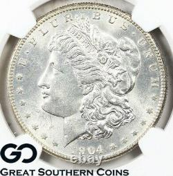 1904-S Morgan Silver Dollar Silver Coin NGC MS 63 Blast White Better Date