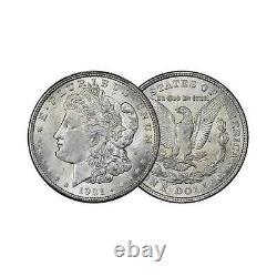 1921-PDS Morgan Silver Dollar Brilliant Uncirculated BU 3pc Set