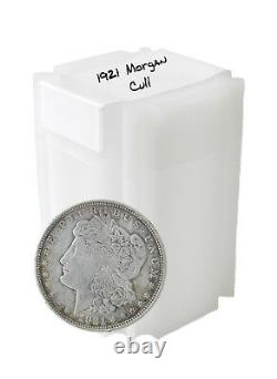 1921 Silver Morgan Dollar Cull Lot of 10 S$1 Coins