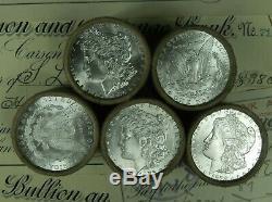1x $10 BU Morgan Roll UNC Silver Dollar Shorty Morgan Dollars Random Ends Pre 21
