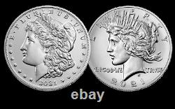 2021 Morgan Silver Dollar- Confirmed Set of 6 Morgan CC, O, D, S, P and Peace