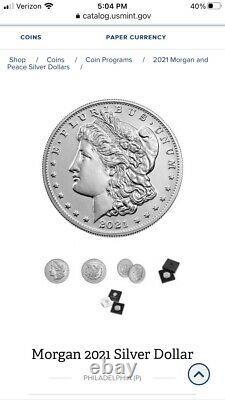 2021-P Morgan Silver Dollar with CONFIRMED ORDER Presale