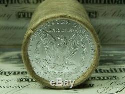 $20 BU Morgan Roll UNC Silver Dollar CC & CC Morgan Dollar Ends Pre 21 Coins