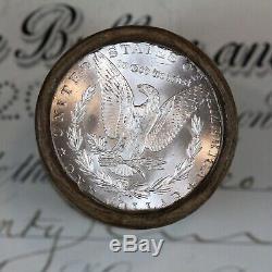 $20 Silver Morgan Dollar Roll 20 Uncirculated Moragns 1881 & Cc-mint Ends