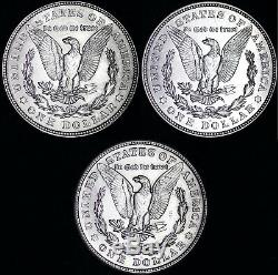 (3 PC SET) 1921 P D S Morgan Silver Dollar XF / AU 90% SILVER ORDER 2+ TO SAVE$d