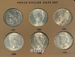 55 Coin COMPLETE 1878-1999 Morgan Peace Ike SBA Silver Dollar Date & Mint Set