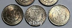 A Lot of 5 Circulated $1 1921 Morgan Silver Dollars, 2 Coins either S or D Mint