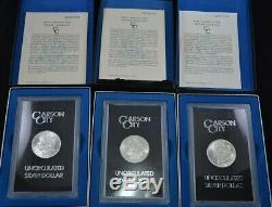 BULK Lot (3 Coins) CC Carson City GSA Morgan Silver Dollar 1882 or 1883 or 1884
