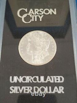 Better Date 1885 CC GSA Morgan Silver Dollar With Box And COA Card