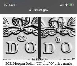 Both 2021 Morgan Silver Dollars CC and O Pre-sale Confirmed Order