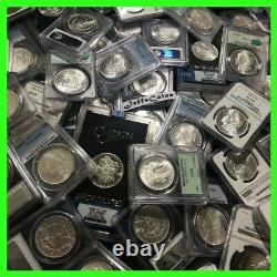 Estate Coin Lot US Morgan Silver Dollar 1 PCGS or NGC UNC O, S, P, CC Mint