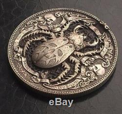 Golden Bug Roman Booteen's coin Hobo Nickel Morgan Dollar & 1/10 gold