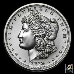 Intaglio Mint 2 oz Silver Morgan Dollar Tribute Round BU In Protective Capsule