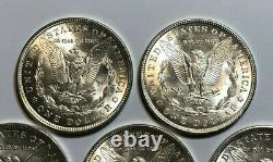 Lot of 5 BU 1921-P $1 Morgan Silver Dollars, Coins are 100 Years Old