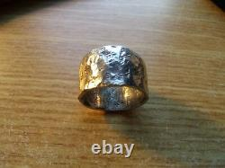 MENS Hammered Silver Ring made from a Morgan Silver Dollar. Size 12 or sized up
