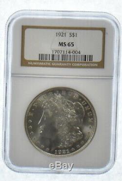 MS65 1921 Morgan Silver Dollar Graded NGC Last Year Morgan! MS-65