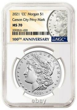 MS 70 Morgan 2021 Silver Dollar CC Privy Mark! Confirmed Pre-Order 11/21