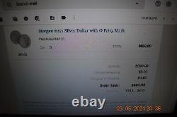 Morgan 2021 Silver Dollar O Privy Mark Pre-Sale (Ships October)