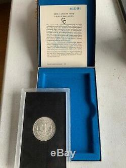 Morgan Silver Dollar 1884cc Carson City GSA BU Original Box/COA