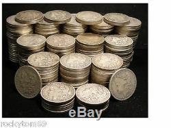 Morgan Silver Dollar Cull Condition 90% Silver (10)Coins No Holes No slicks