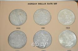 Morgan Silver Dollar Date Set in Dansco #7171 Album (32 coin) Full Set