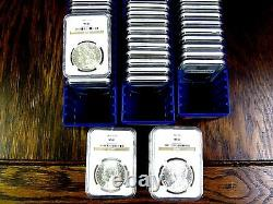 NGC MS62 Blast White Morgan Silver Dollar U. S. Mint Coin