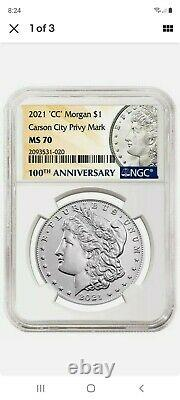 NGC MS 70 Morgan 2021 Silver Dollar CC Privy Mark! Confirmed Pre-Order 11/21