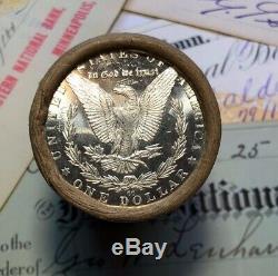 (ONE) BU UNCIRCULATED $20 Silver Dollar Roll CC & CC Morgan Dollar Ends