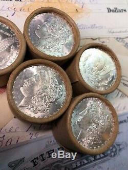 (ONE) UNCIRCULATED $10 Silver Dollar Roll CC & 1885 Morgan Dollar Ender