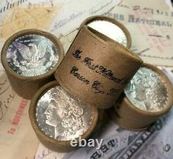(ONE) UNCIRCULATED $10 Silver Dollar Roll Mixed Morgan Dollar Ends 1878-1904