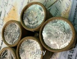 (ONE) UNCIRCULATED $10 Silver Dollar Roll Mixed Morgan Dollar Ends 1878-1904