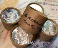 (ONE) UNCIRCULATED $10 Silver Dollar Roll Mixed Morgan Dollars 1878-1904