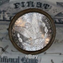 (ONE) UNCIRCULATED $20 Silver Dollar Roll 1899 & CC-Mint Morgan Dollar Ends