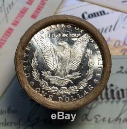(ONE) UNCIRCULATED $20 Silver Dollar Roll CC & CC Morgan Dollar Ends
