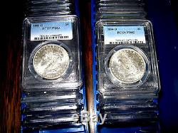 PCGS MS62 Blast White Morgan Silver Dollar U. S. Mint Coin