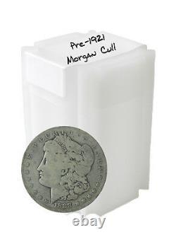 Pre 1921 Silver Morgan Dollar Cull Lot of 20 S$1 Coins