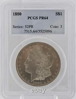 Proof 1880 P NGC PR 64 Silver Morgan Dollar $1 Coin Key Date Graded 52PR
